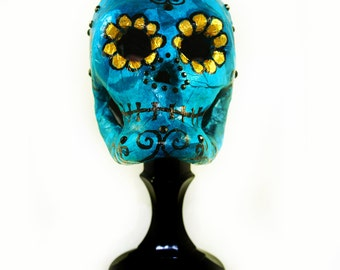 Sugar Skull - Day of the Dead  - Centerpiece - Tim Burton style - Dark Home Decor - Skull - Día de Muertos - Gothic Gifts - Decorations