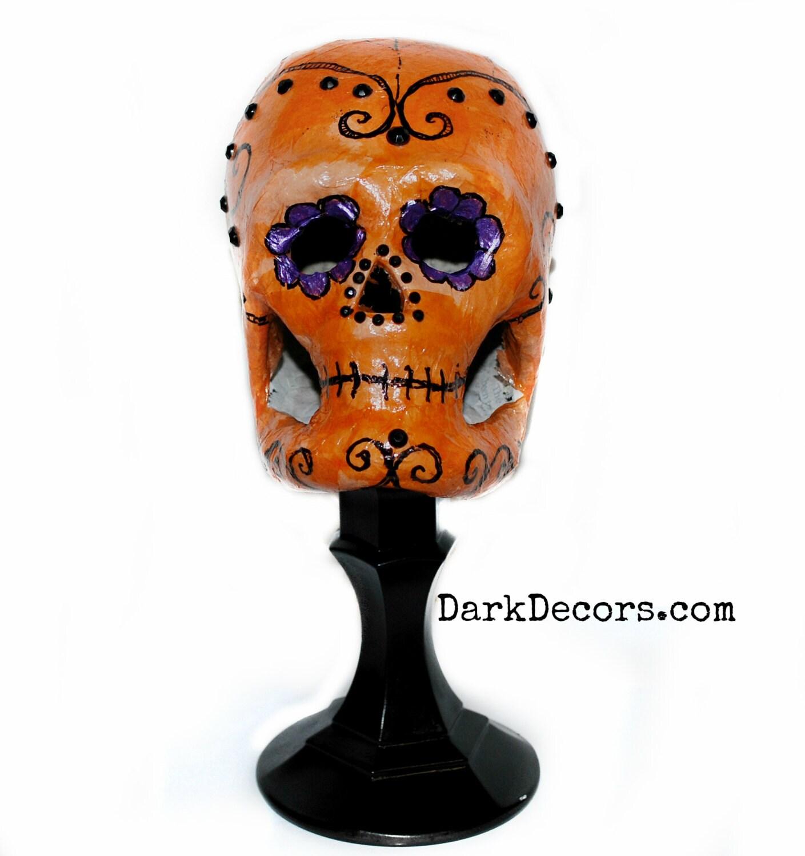 Centerpiece Sugar Skull Day Of The Dead Dark Home Decor