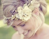 bridal accessories, woodland wedding, bridal hair crown, natural vine head piece - QUEEN of the WOODS