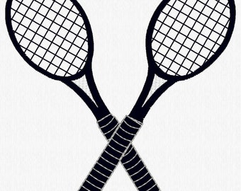 Tennis Racquets Machine Embroidery Design