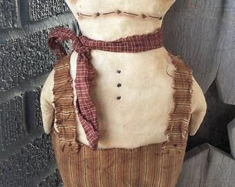 Bowman Snowman EPATTERN...primitive holiday cloth doll craft digital download sewing pattern...christmas winter...PDF...1.99