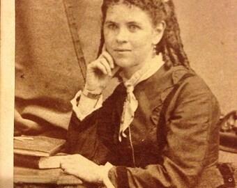 CDV of Young Woman - Ogdensburg, NY