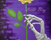 """5""""x7"""" print The Yellow Rose by Leslie Berg"""