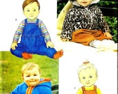 UNCUT Butterick 6782 Adorable Pixie Baby Hooded Jacket Cat Bear Ears sewing Baby Girl Jumper Boy Overalls polar fleece All sizes included