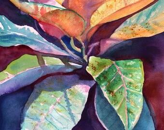 Tropical Leaf art, Tropical Foliage prints, Kauai art, Hawaiian artwork, Hawaiian decor, Tropical interior design, Hawaiiana, Hawaii art