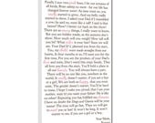 Your Words , Music on Canvas Custom- Poem, Love Letter, Bible Reading, Lyrics  10x20 inches
