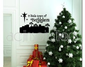 Little Town of Bethlehem Christmas Vinyl Wall Decal