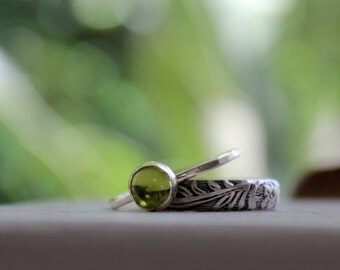 Peridot Stacking Rings
