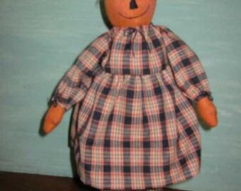 Prudence Pumpkin Doll, Epattern, PDF, Downloadable Digital Pattern
