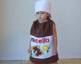 Baby Nutella Costume Halloween Toddler Infant Costume Photo Prop Hazelnut Carnaval Carnival Karneval Purim Fancy Dress