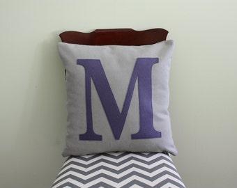 Alphabet Pillow - Case + Insert // Letter // Initials // Kids Room // Throw Pillow // Neutral // Bedroom // Living Room // Decor