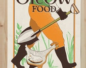 Grow Food - 18x24 Special screen printed Poster Limited Edition