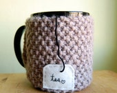 Reserved for nsmcdonald - Tea Love Mug Cozy Knitted Chai Cup Cosy
