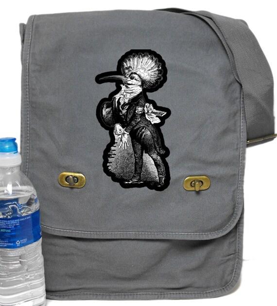 Bird Man Print Field Messenger Bag