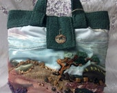 OOAK Embroidered Handbag, with applique, beading and hand embroidery