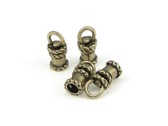 Swivel cord caps id mm antique brass end