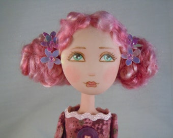 OOAK Art Doll  in Polymer clay and Fabric - Bridget -