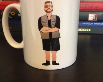 The Dude and Walter Big Lebowski drawing illustrated mug