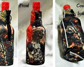 12 Custom zipper insulated beer soda 12oz bottle cozie cozy decorative wrap personalized photo logo text insulator cover coolie wedding men