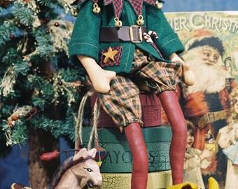 Cloth Doll E-Pattern - 18in Cute Christmas Elf ePattern