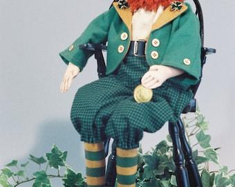 Cloth Doll E-Pattern - 20in Leprechaun Doll pattern