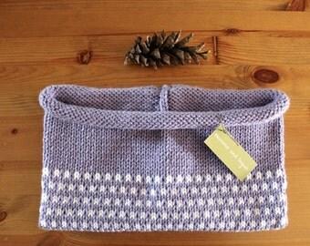 kids knit cowl in SNOWFLAKE (custom order - vegan friendly)