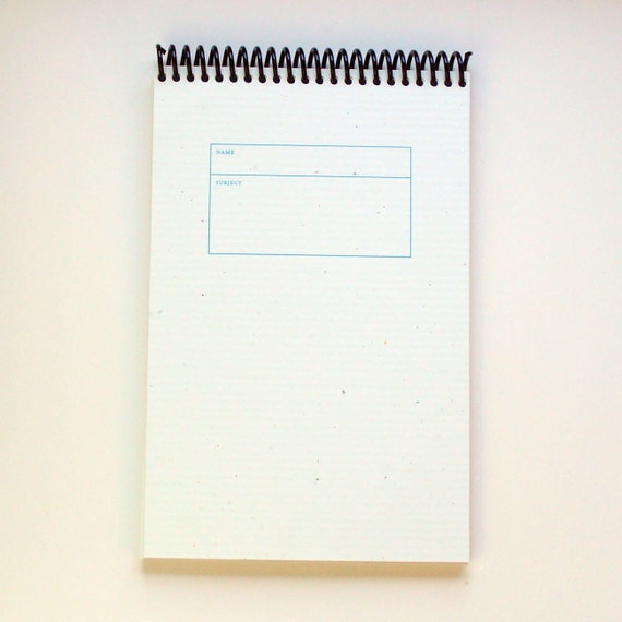 Spiral Top Bound Blank Notebook Lined 8.5 X 5.5