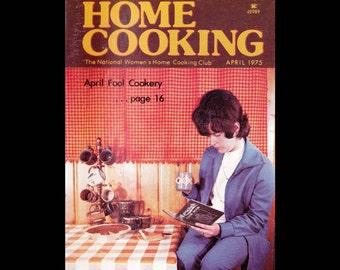 Women's Circle Home Cooking - Vintage Recipe Magazine c. April 1975