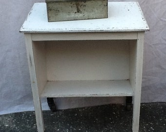 Vintage Wood Shabby Chic Industrial Cart Trolley