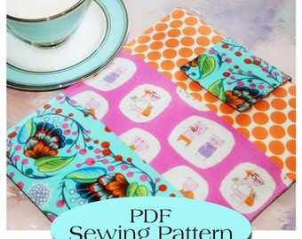 Macbook 13 Sleeve ,Padded Macbook Sleeve , Macbook Case Pattern, Macbook Cover PDF Sewing Pattern Ebook Sewing Tutorial, Instant Download