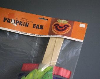 Vintage Halloween Pumpkin Decoration, Crepe Paper Jack O Lantern, Party Decor, New in Packaging  Danish Modern  Made in Denmark