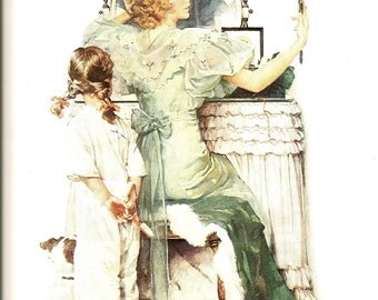 Norman Rockwell - Going Out - Vintage Art Print - Rockwell Book Plate, Book Print - Saturday Evening Post Cover - 1933