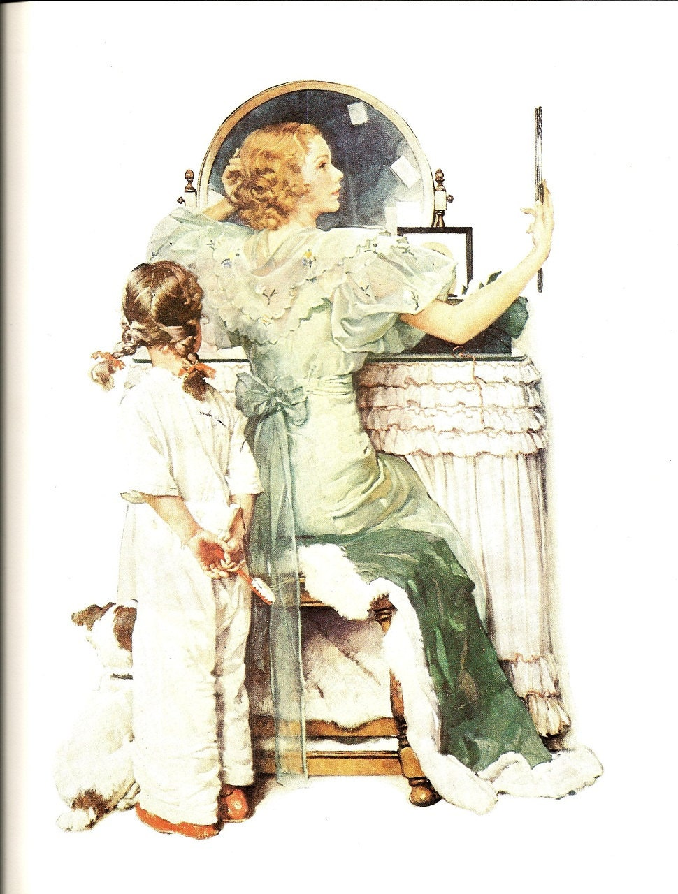Norman Rockwell Going Out Vintage Art Print Rockwell
