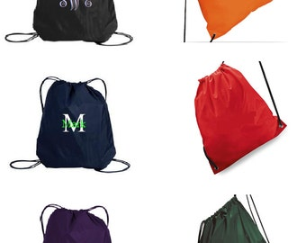 SALE - Personalized Bag Drawstring Backpack - monogrammed - embroidered