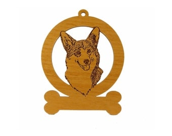 Corgi Pembroke Head Ornament 083001 Personalized With Your Dog's Name