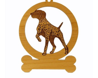German Shorthair Pointer Ornament  083225 Personalized With Your Dog's Name