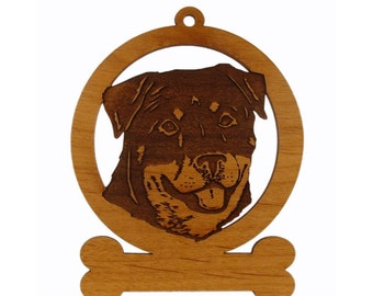 Rotweiler Head Dog Ornament 083836 Personalized With Your Dog's Name