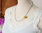 Elisa - glass beaded bouquet necklace