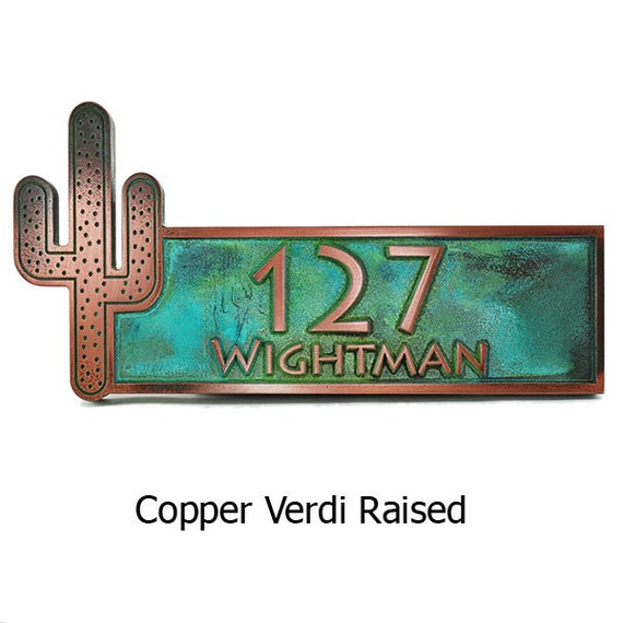 """Cactus Name Plaque, Desert Welcome Plaque, 16.5"""" W x 7"""" H Made in USA"""