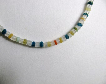Gemstone and Moonstone Beaded Necklace RKS359 RKMixables Silver Collection