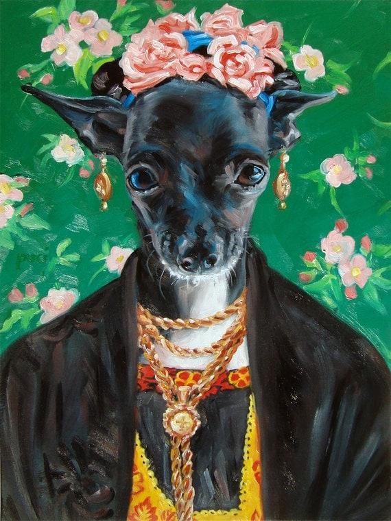 Chihuahua Winnie IS Frida Kahlo pet costume craze CUSTOM Pet