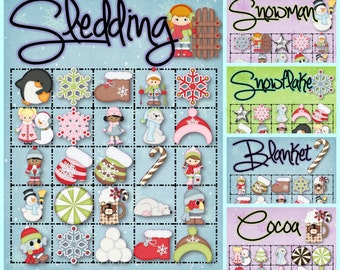 30 Winter Bingo Cards - INSTANT DOWNLOAD
