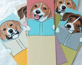 Beagle Bookmarks - Eco-friendly Set of 5