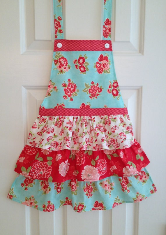 Apron Little Girl's apron funky vintage perfect for a