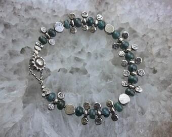 Kyanite and Silver Goddess Bracelet