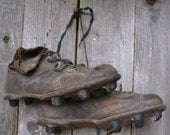 Antique Leather 1920s Football Cleats