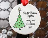 Our First Christmas Together Ornament Our First Christmas Married Personalized Ornament Festive Christmas Tree Ornament -  Item# XTR-O