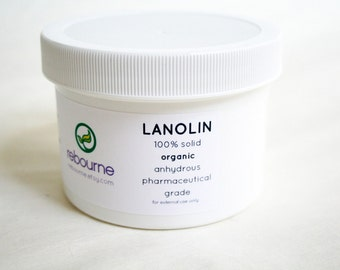Lanolin - 8 ounces 8 oz organic lanolin for wool clothing and wool diaper covers - waterproofing lanolin for cloth diaper covers