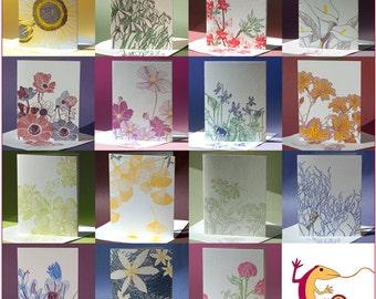 Letterpress Bouquet Greeting Card Assortment