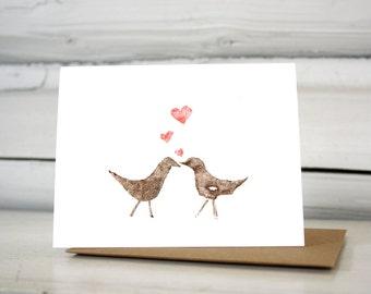 Love birds Valentines card